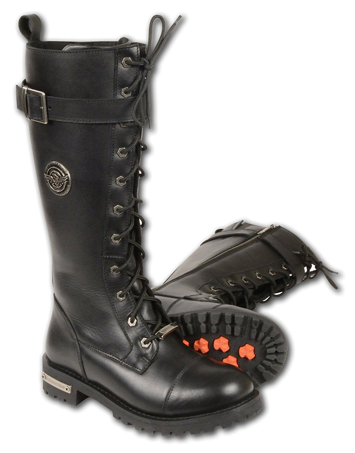 e81155771bb Motorcycle Men and Women Leather Boot