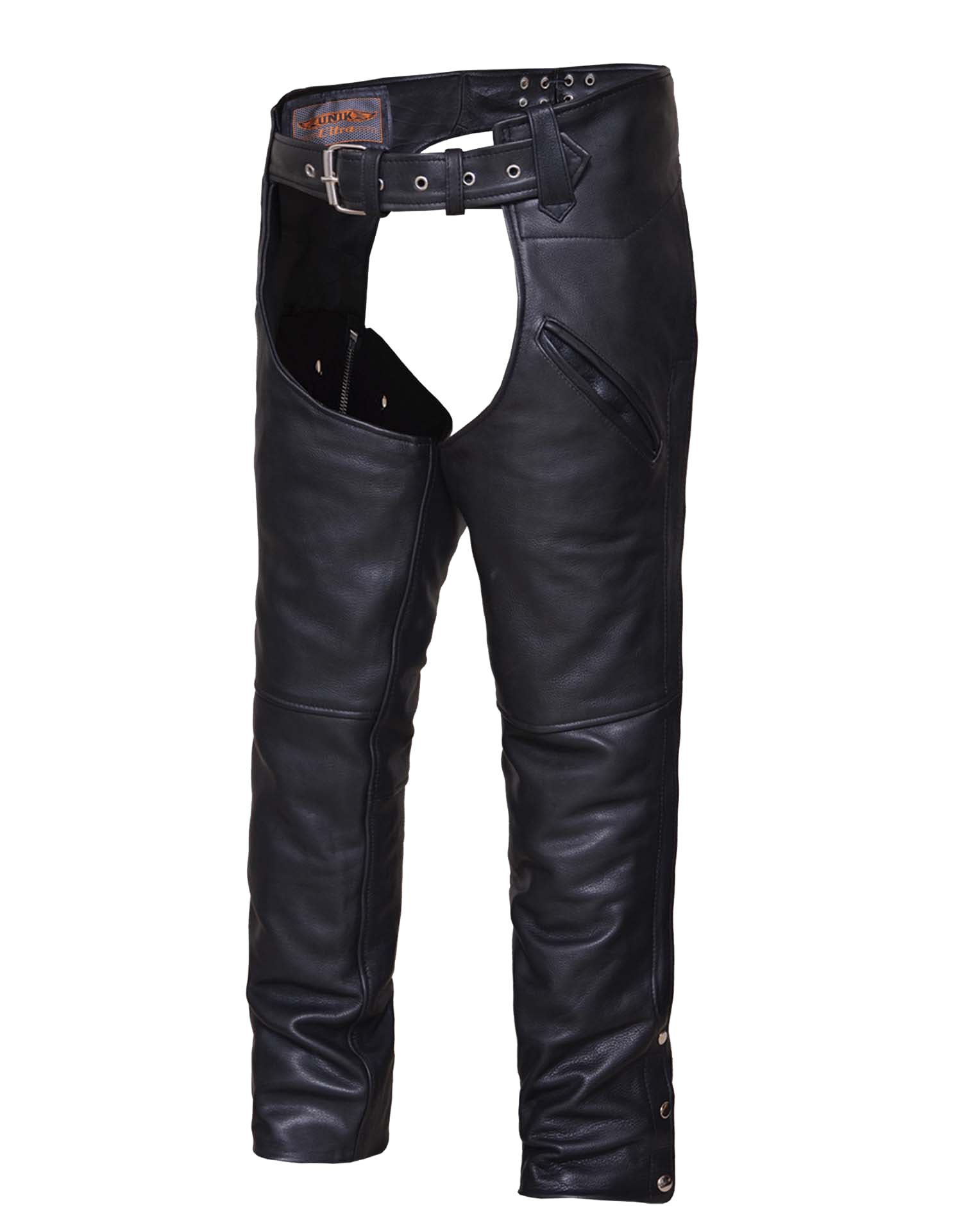 Ladies Leather Chaps - Womens Motorcycle Chaps - Biker