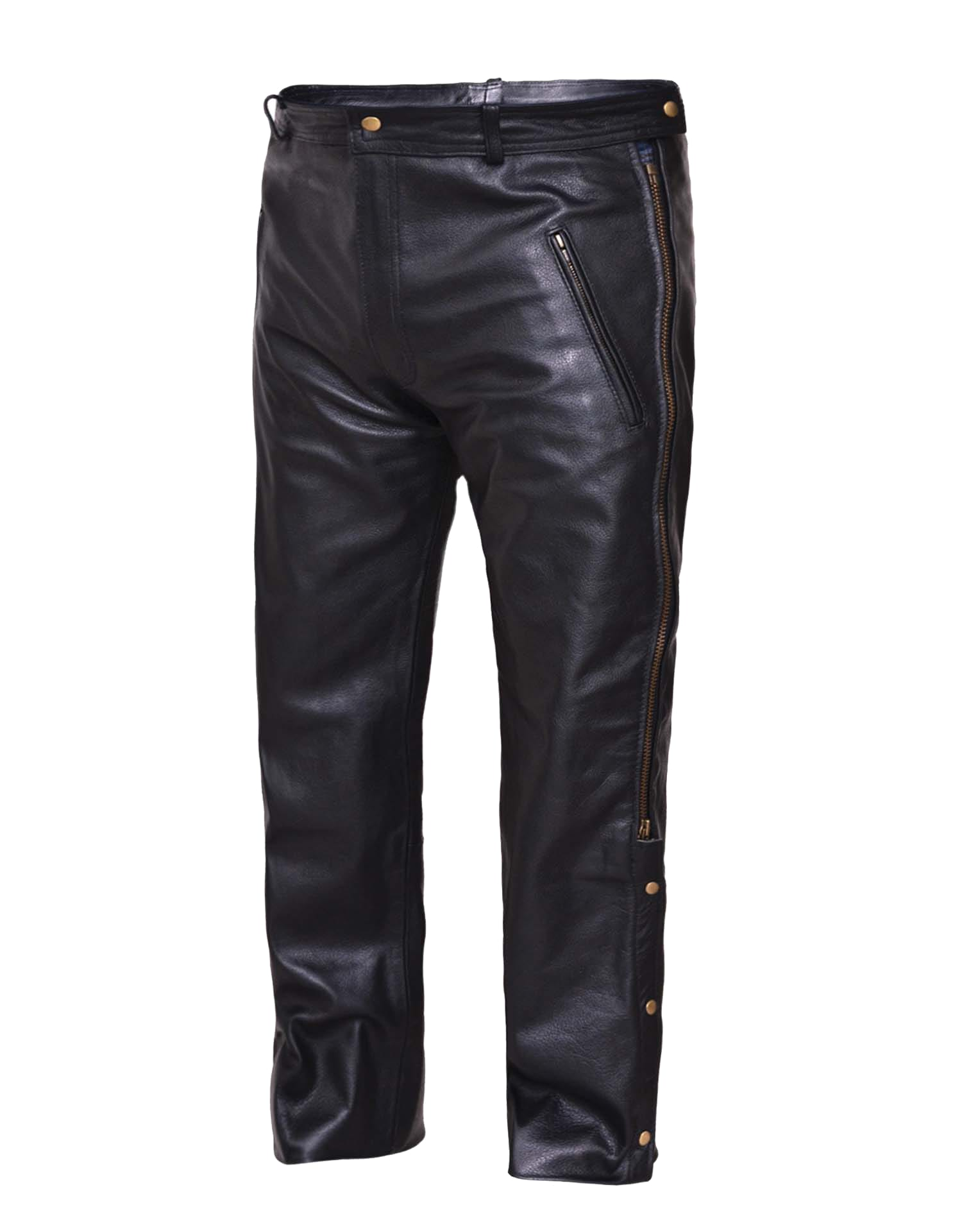 d2db7f30345e 0765-00-BLK - Men s Premium Leather Pants