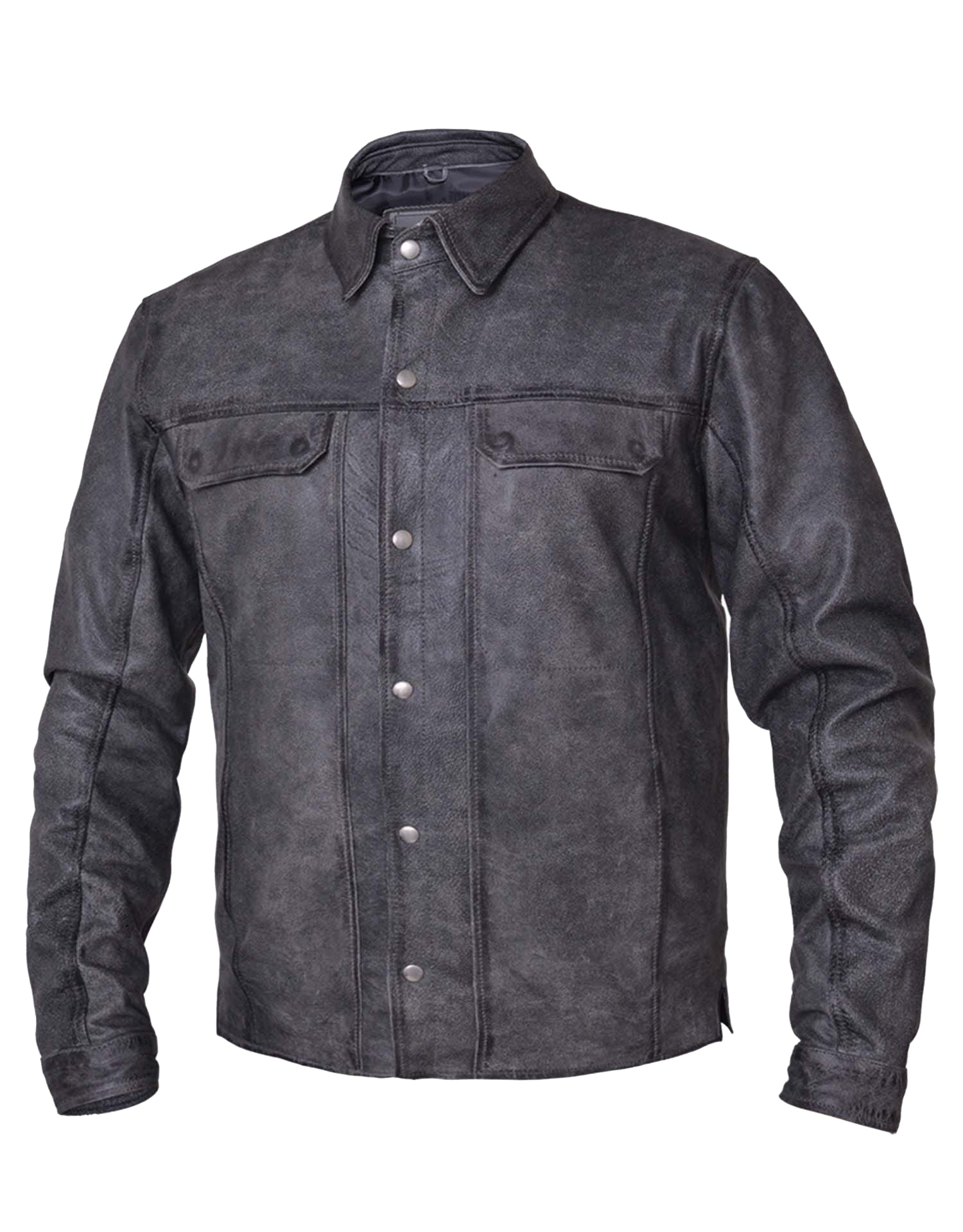 91226e4a4 Men's Premium Lightweight Leather Motorcycle Shirt